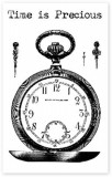 Time is precious - clear stamps