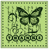 Thanks - Mini Cling Stamp
