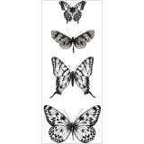 Butterflies - Texture Clear Stamps