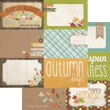 Harvest Lane - 4x6 Journaling Card Elements #2