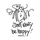 Don't Worry Be Happy - Cling Stamp