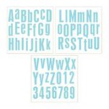 Foam Board Alpha Stickers 30,5x30,5 cm