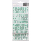 Memory Planner Sticker - ABC coral green Puffy