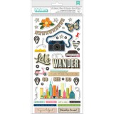 Let's Wander - Phrase Chipboard Thickers