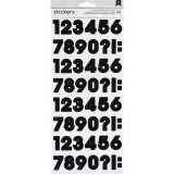 AC Chipboard Stickers - Numbers Black