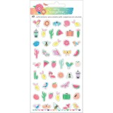 Sunshine and Good Times - Mini Puffy Stickers