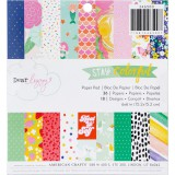 Dear Lizzy Stay Colorful - Paper Pad 15,2x15,2 cm