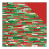 Happy Christmas - Four, Pattern Tape/Red Tone Squa