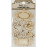 Elegant - Kraft Wood Shape Embellishments