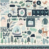 Snow Much Fun - 12x12 inch Element Sticker