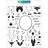 Furry Friends - Clear Stamps 6x8 inch