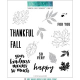 Thankful Leaves - Turnabout Clear Stamps 6x6 inch