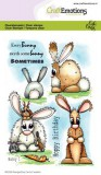 CraftEmotions clearstamps A6 - Bunny 1 Carla Creat