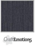 Leinenkarton - anthrazit von Craft Emotions 30,5 x