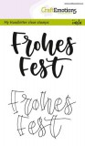 Handletter - Frohes Fest Clear Stamps