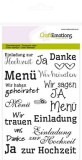 CraftEmotions clearstamps A6 - Hochzeit