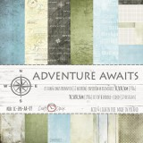 Adventure Awaits - Set of Papers 30,5x30,5 cm