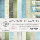 Adventure Awaits - Set of Papers 15,2x15,2 cm