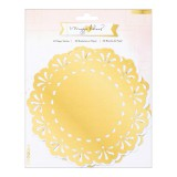 Open Book - White / Gold Doilies