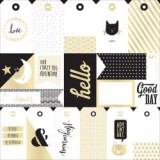 Wonder - Foiled Cardstock - Tags with Gold 30,5x30,5x30,5 cm