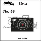 Crealies Uno nr. 56 Camera (klein)