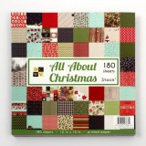 All About Christmas - 180 Sheets Stack 30,5x30,5