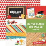 Back to School - 4x6 Journaling Cards 30,5x30,5 cm