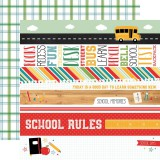 Back to School - Border Stripes 30,5x30,5 cm
