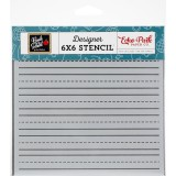 Back to School - Lined Paper Stencil