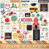 Back to School - Element Stickers 30,5x30,5 cm