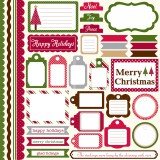 Dots & Stripes Christmas - Element Stickers