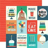 Happy Birthday Boy - 3x4 Journaling Cards 30,5x30,5 cm