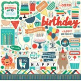 Happy Birthday Boy - Element Sticker 30,5x30,5 cm