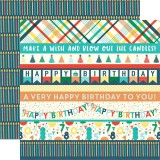 Happy Birthday Boy - Border Strips 30,5x30,5 cm