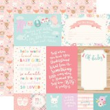 Hello Baby Girl - 4x6 Journaling Cards 30,5x30,5 c