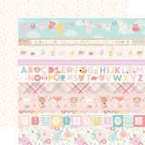 Hello Baby Girl - Border Stripes 30,5x30,5 cm