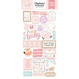 Hello Baby Girl - Chipboard Phrases