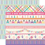 Happy Birthday Girl - Border Strips 30,5x30,5 cm