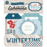 I Love Winter - Frames Tags Ephemera