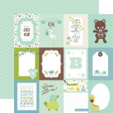 Sweet Baby Boy - Journal Cards/Green On Green Dots