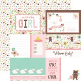 Sweet Baby Girl - Journaling Cards/Multi Dots 30,5