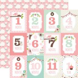 Sweet Baby Girl - Months Cards 30,5x30,5 cm