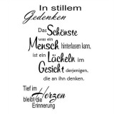 stilles Gedenken - Clear Stamp Set von efco