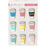 Drink Cups - Puffy Stickers