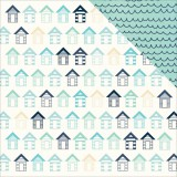 Summer Splash - Beach Huts 30,5x30,5 cm