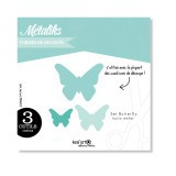 Metaliks - Stanzform Set Butterflies