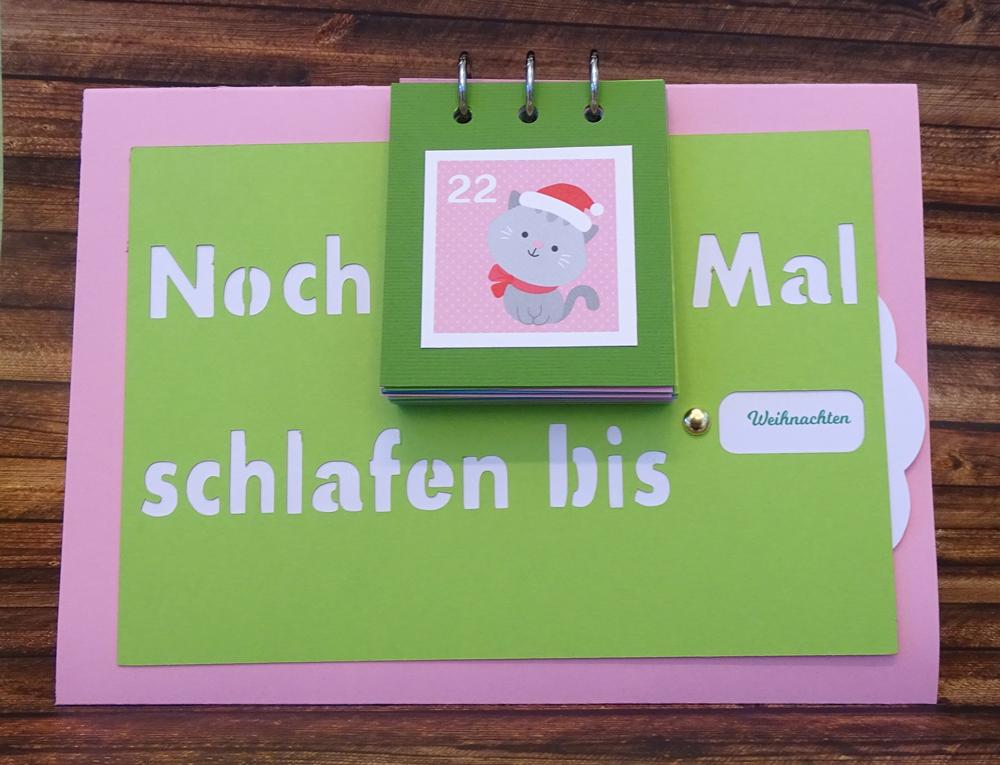 Kreativ Set - Countdown Kalender - Weihnachten bun : Der Scrapbook ...