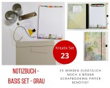 Kreativ Set 23 - Notizbuch Basis Set grau
