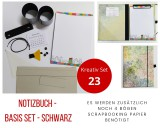 Kreativ Set 23 - Notizbuch Basis Set schwarz