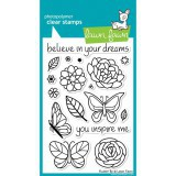 Flutter By - Lawn Fawn Clear Stamp Set